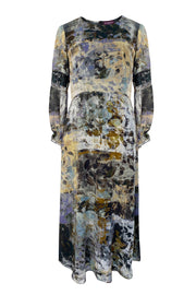 Belisama Windfall Neutral Silk Georgette Maxi Dress