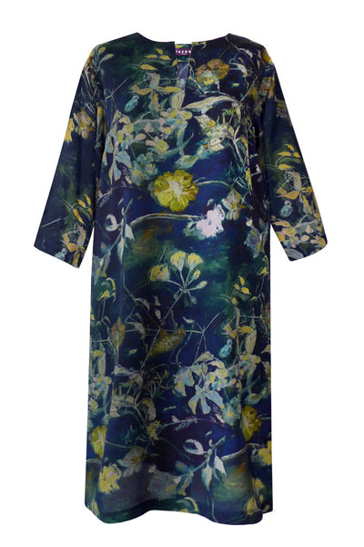Athena Shangri La Navy Gold Tunic Dress