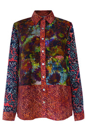 Concordia Twilight Guipure Brocade Patchwork Shirt