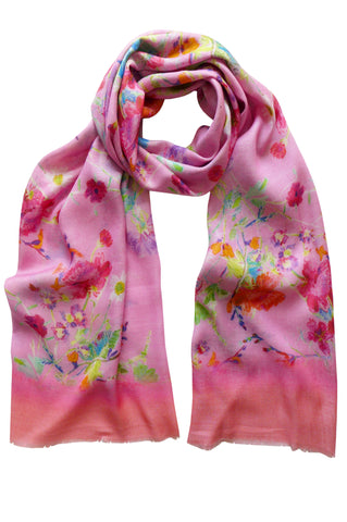 Floris Pink - (Cotton/Silk/Cashmere) Scarf