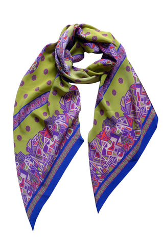 Mekkano - Long Narrow Bias Silk Scarf