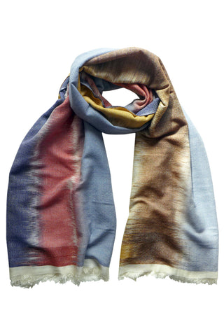 IKAT Neutral - (Cashmere/Silk) Scarf