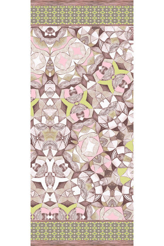 Peace Pink - (Double Silk Georgette) Long Narrow Scarf