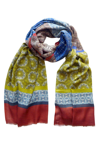 Symmetry in Motion - (Cotton/Silk/Cashmere) Scarf