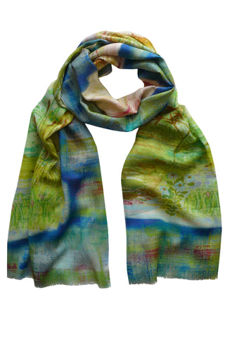 Dragonfly - (Cotton/Silk/Cashmere) Scarf