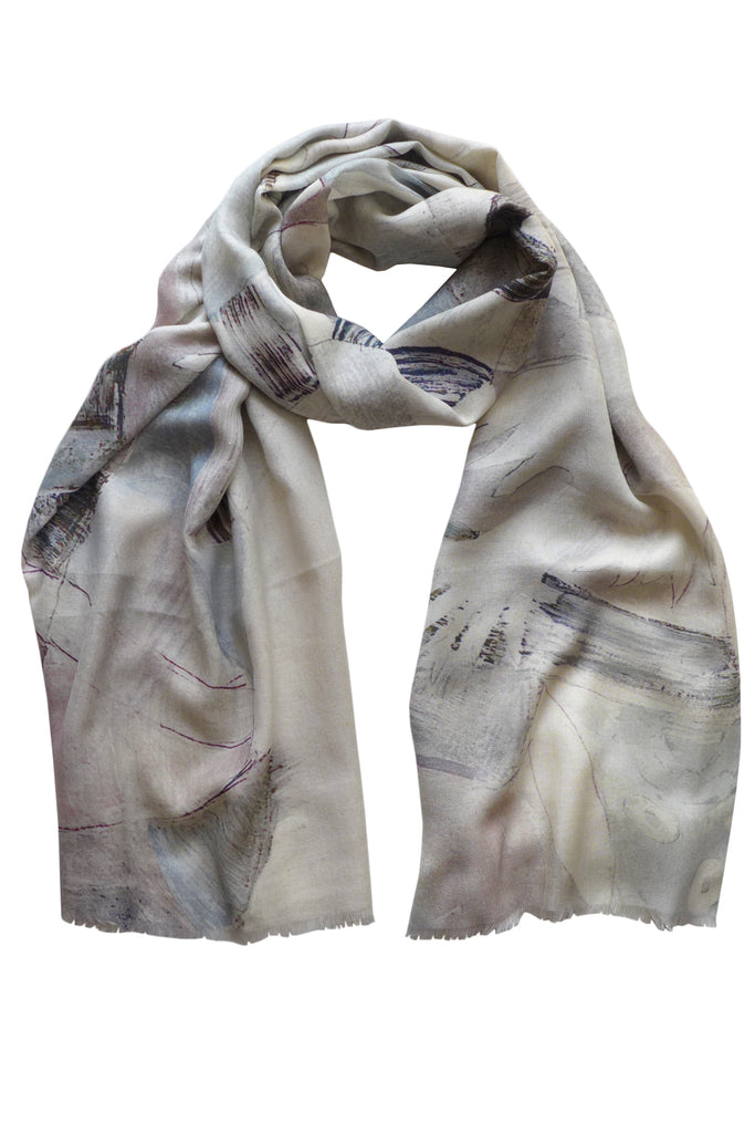 Pazuki | SS18 | Cotton Silk Cashmere - Peace Grey - SCARF