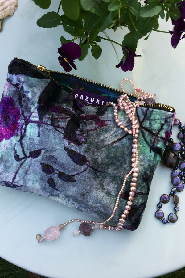 Shangri La Berry Velvet Bag