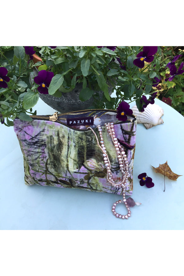 Twigs Pink Velvet Bag