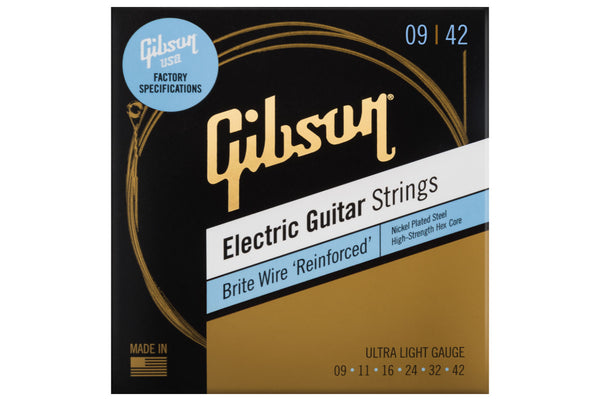 สายกีต้าร์ไฟฟ้า Gibson Brite Wire 'Reinforced' Electric Guitar Strings