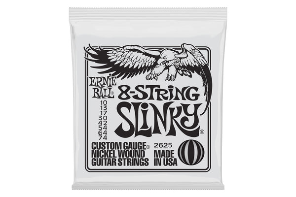 สายกีต้าร์ไฟฟ้า ERNIE BALL SLINKY 8-STRING NICKEL WOUND ELECTRIC GUITAR STRINGS - 10-74 GAUGE