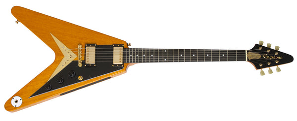 "กีต้าร์ไฟฟ้า Epiphone Ltd. Ed. Joe Bonamassa 1958 ""Amos"" Korina Flying-V Outfit"