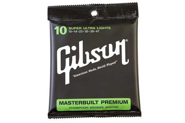 สายกีต้าร์โปร่ง Gibson Masterbuilt Premium Phosphor Bronze Acoustic Guitar Strings