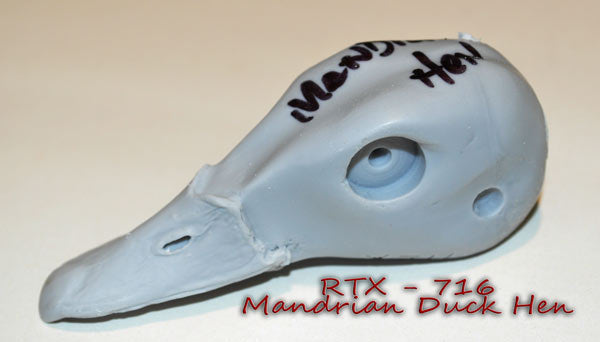 RTX716 Mandrian Duck Hen Head