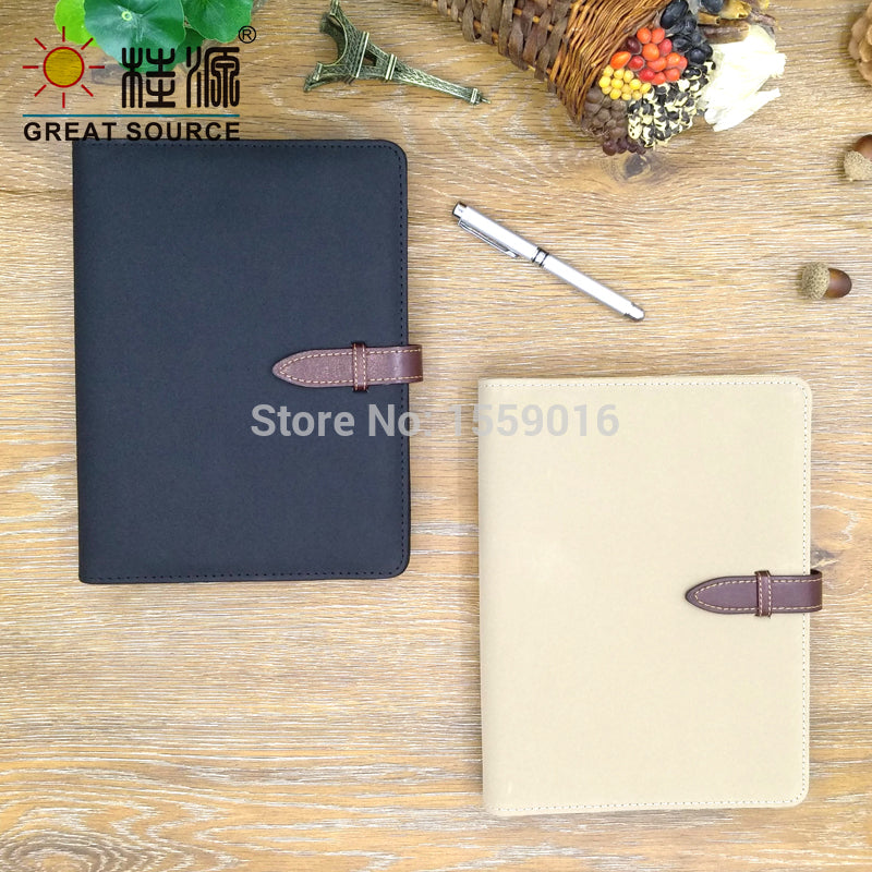 Binder folder padfolio Clear Pen Bag Color Sticker Ruler Leather File Folder for A5 binder notepad Faux Moleskin Leather Cover