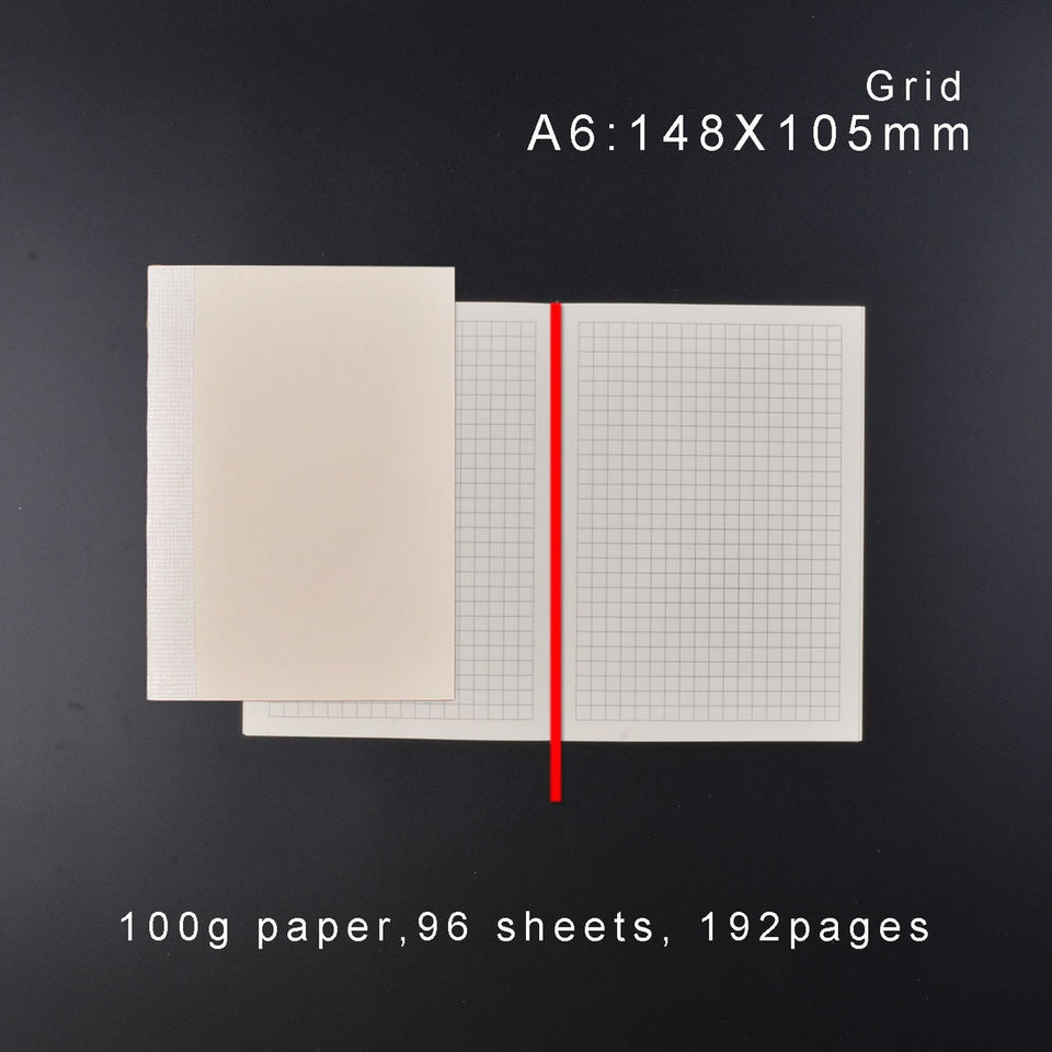Brand New Planner Insert Diary Refills for A5 A6 Size Notebook Cover Grid Ruled Blank 100g Paper Japenese Agenda Bullet Journal