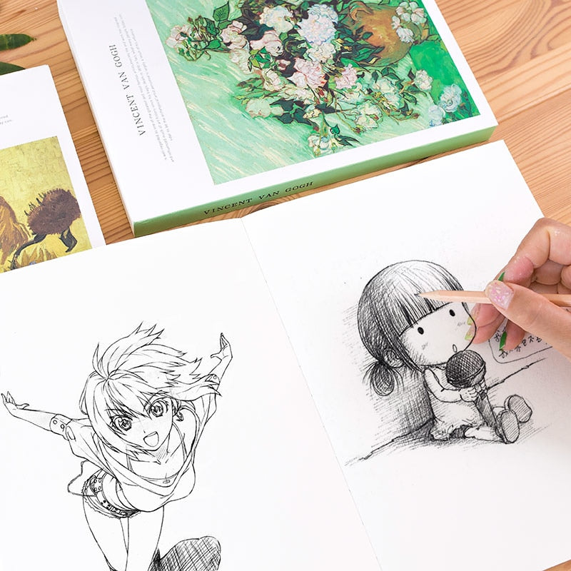 1pcs  Thicken Sketch Blank Paper Sketchbook Picture Book Hand-painted Special Art Painting Paper Graffiti Watercolor Painting