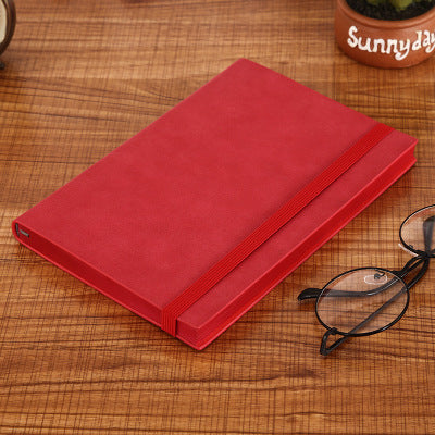 Fromthenon A5 PU Notebook Meeting Record Notepad Soft Bandage Diary Thicken Handbook Planner Organizer Agenda 2020 Journal