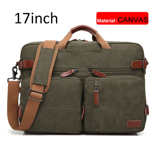 17 Inch Convertible Briefcase Men Business Handbag Messenger Bag Casual Laptop Multifunctional Travel Bags For Male Big XA161ZC