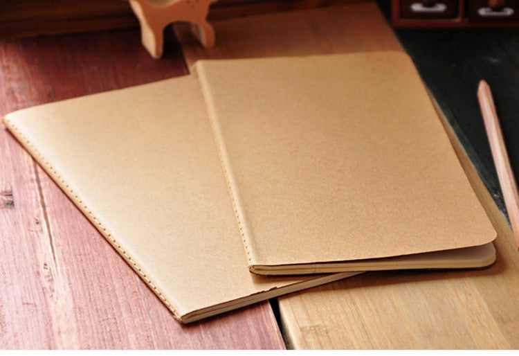 Cowhide Paper Notebook Blank Notepad Book Vintage Soft Copybook Daily Memos Kraft Cover Journal Notebooks