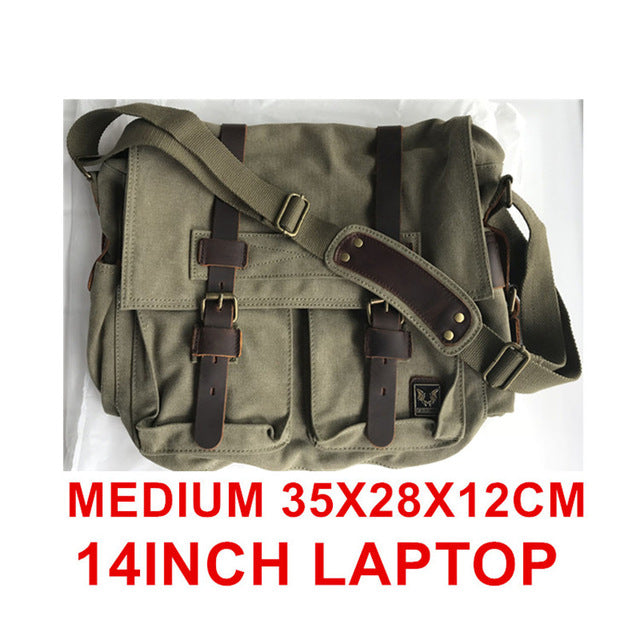 Burminsa Canvas Leather Men Messenger Bags I AM LEGEND Will Smith Big Satchel Shoulder Bags Male Laptop Briefcase Travel Handbag