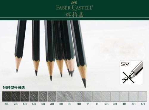 Faber Castell 9000 Graphite Pencil for Writing Drawing and Sketching Art Set Plus 1 leather Case 1  Pencil Extender 2 Erasers