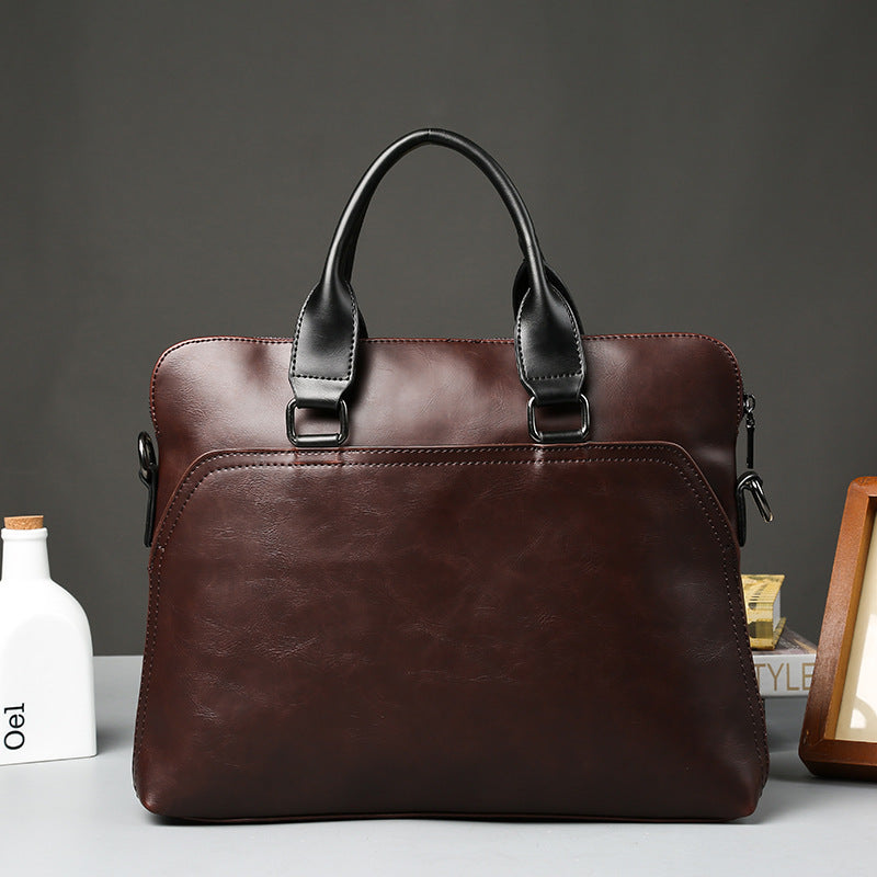 Work Bag Office Bags Werk Tas Mannen Documents 13inch Laptop PU Leather Bag A4 Thin Briefcase Portafolio Cuero Hombre Bolso New