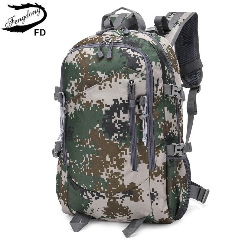 FengDong student large waterproof school backpack school bags for teenage boys bagpack men travel bags male camouflage backpack