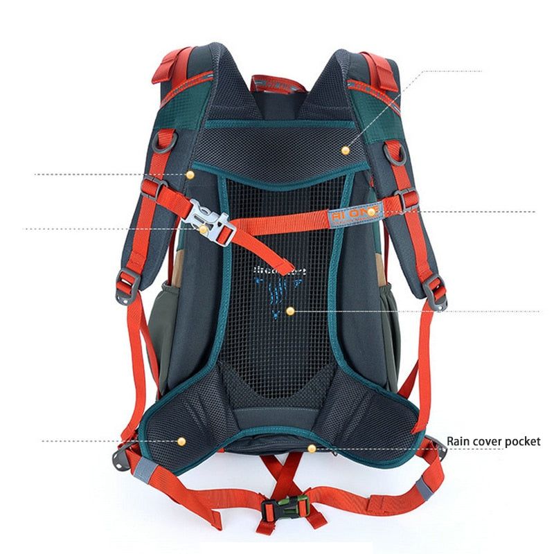 Waterproof Travel Hiking Backpack Sports Cycling Camping Backpack Rucksack Men Travel Light Trekking Bagpack 900D Nylon Bag 30L