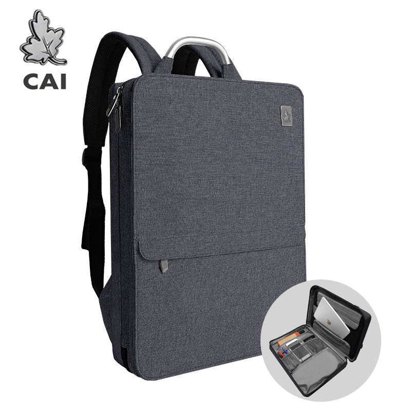 "CAI Office Backpack Back School Bag 15.6"" Laptop for Men Women Side Open Business Fashion Book Overnight Bags Waterproof Weekend"