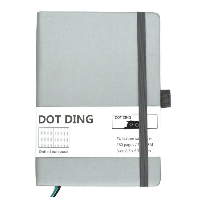 Dotted Bullet Notebook A5 100 GSM Journal PU leather softcover, 160 pages, ivory white paper Hand-made planner Agenda