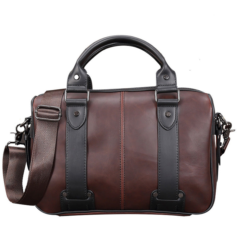 Brand Casual Men Briefcase Crazy Horse Leather Men Messenger Bags Vintage Shoulder Bag Male Laptop Bag Business Bags for Men