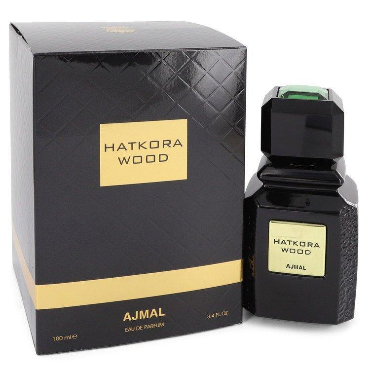 Hatkora Wood by Ajmal, Eau De Parfum Spray (Unisex) (Men)  3.4 oz - FragranceB&B