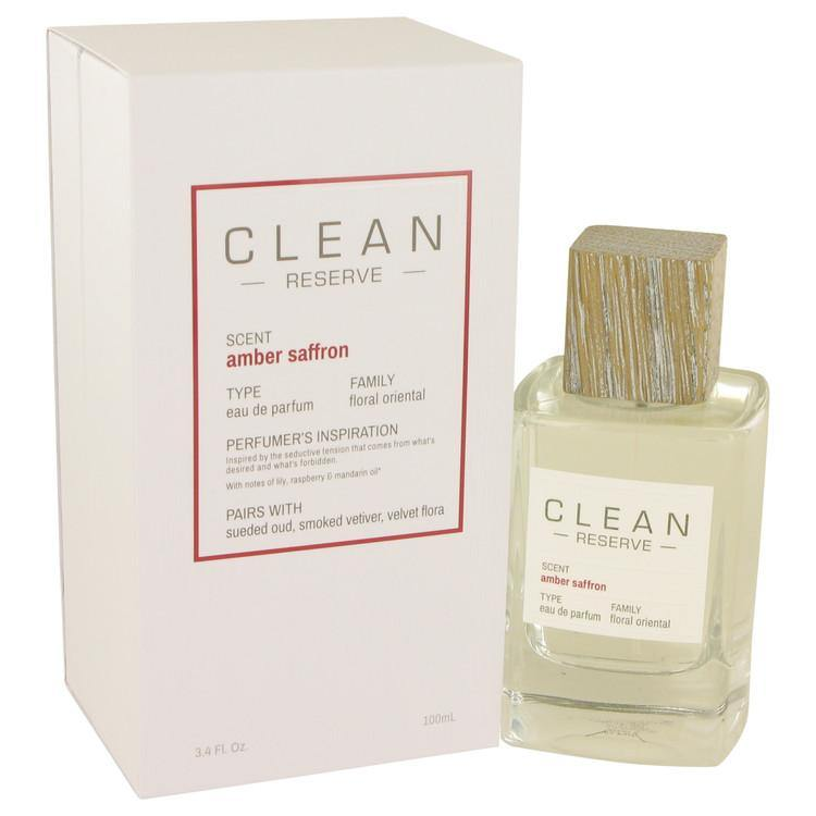 Clean Amber Saffron by Clean, Eau De Parfum Spray (Women)  3.4 oz