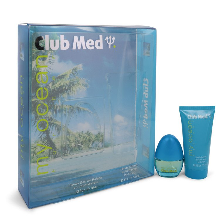 Club Med My Ocean by Coty, Gift Set - .33 oz Mini EDT Spray + 1.85 oz Body Lotion (Women)  --