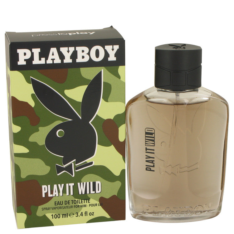 Playboy Play It Wild by Playboy, Eau De Toilette Spray (Men)  3.4 oz