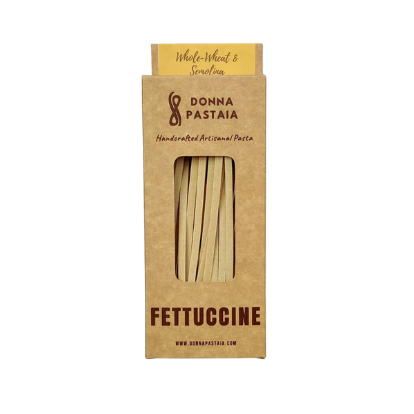 Fettuccine Whole Wheat & Semolina (Eggless) Pasta