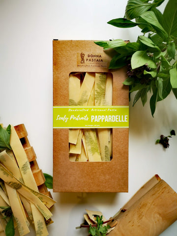 Leafy Portraits Pappardelle