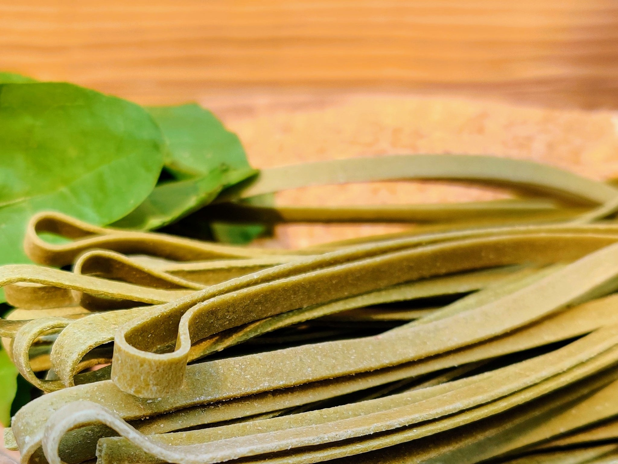 Spinach Fettuccine Whole Wheat & Semolina -Eggless Pasta