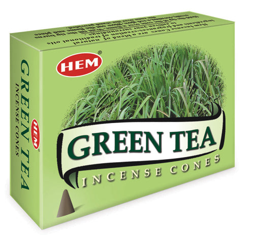 Green Tea Incense Cones