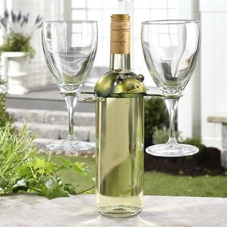 Froggy wine glass holder