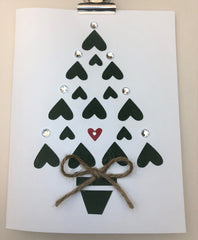 Heartful Christmas Tree Greeting Card