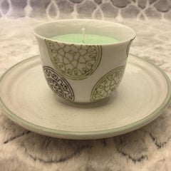 Small Japanese Style Teacup Candle