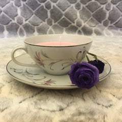 Japanese Floral Teacup Candle