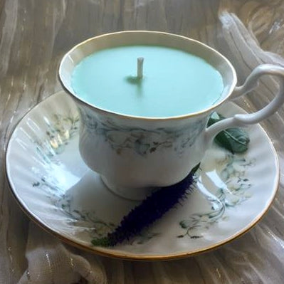 Royal Kent Floral Teacup Candle