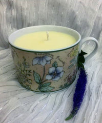 Round Floral Teacup Candle