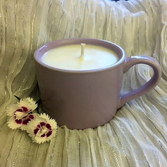 Violet Coffee Mug Candle
