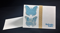 Handmade card - Butterfly kisses