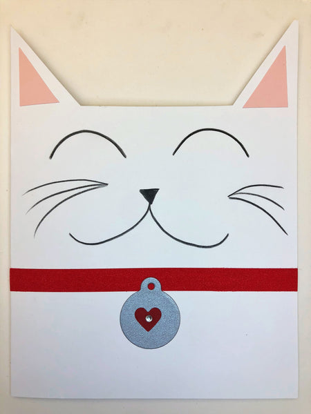 Handmade Kitty Ears Greeting Card