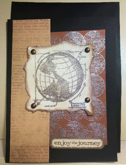 Enjoy the Journey Handcrafted Greeting Card