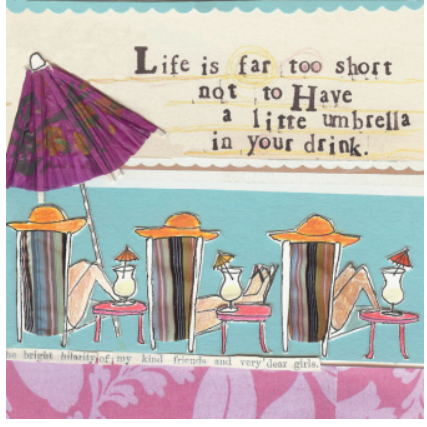 Drink Umbrella Greeting Card